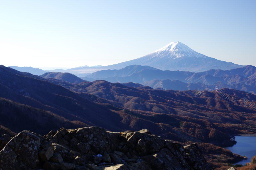 大菩薩嶺 稜線からの富士山