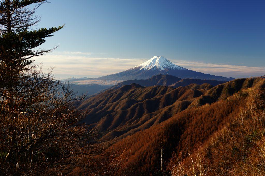 黒岳付近から見た富士山