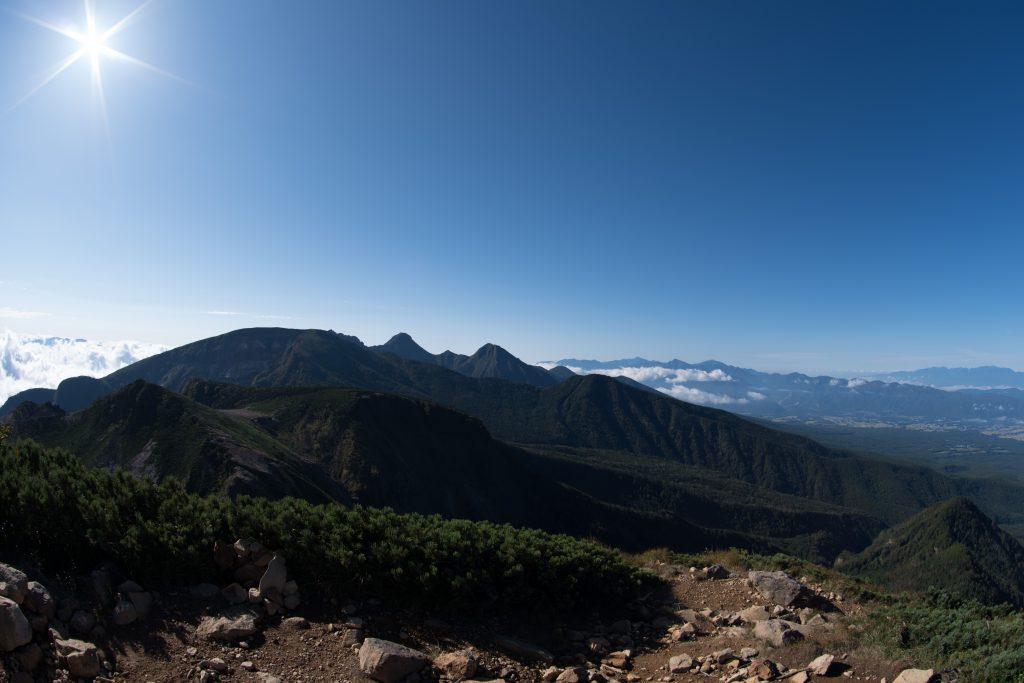 西天狗岳山頂からの展望